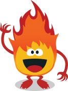 Picture of a flame character